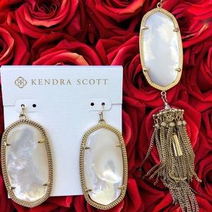 NWT Kendra Scott Gold In Ivory Mother-Of-Pearl Set